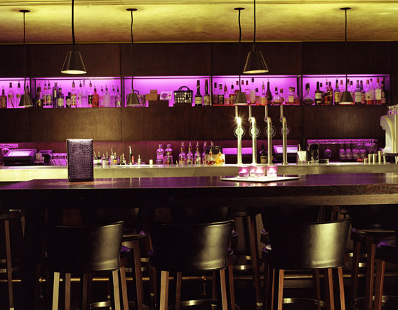 Enjoy a drink at the bar at Malmaison in Clerkenwell